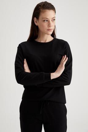 Defacto Kadın Siyah Relax Fit Sweatshirt 0