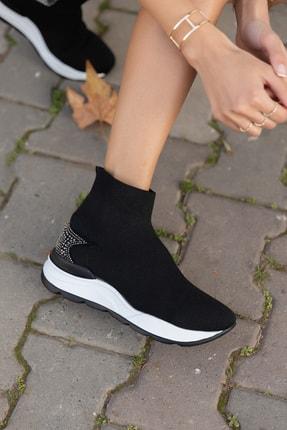 ANGELİNA JONES Damlalla Siyah Trıko Sneakers Bot 4