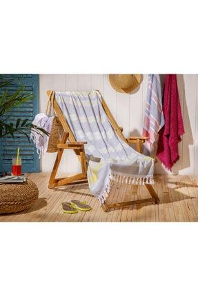 English Home Sea Dreams Plaj Havlusu 75X150 Cm Gri-Sarı 0