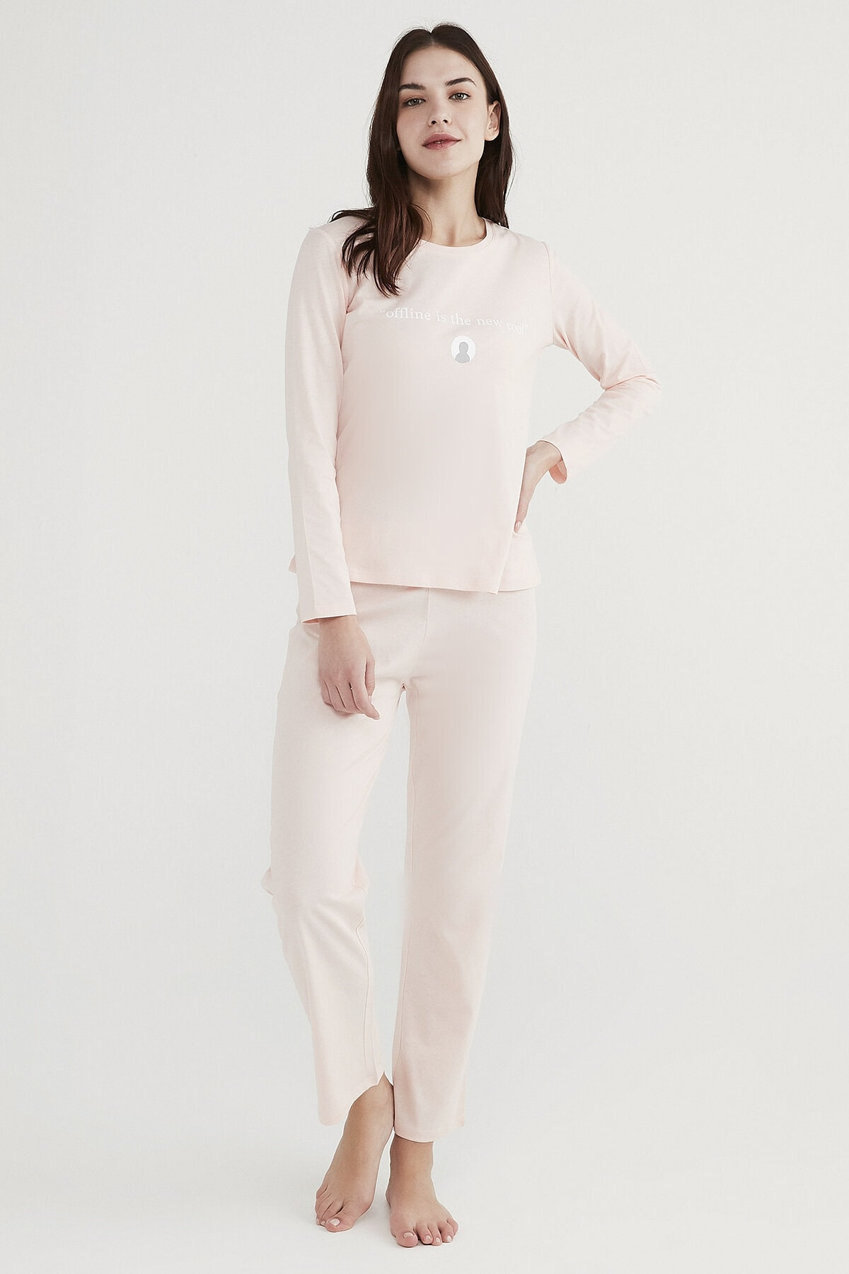 Penti Kadın Pembe Base Offline Pijama Takımı 1