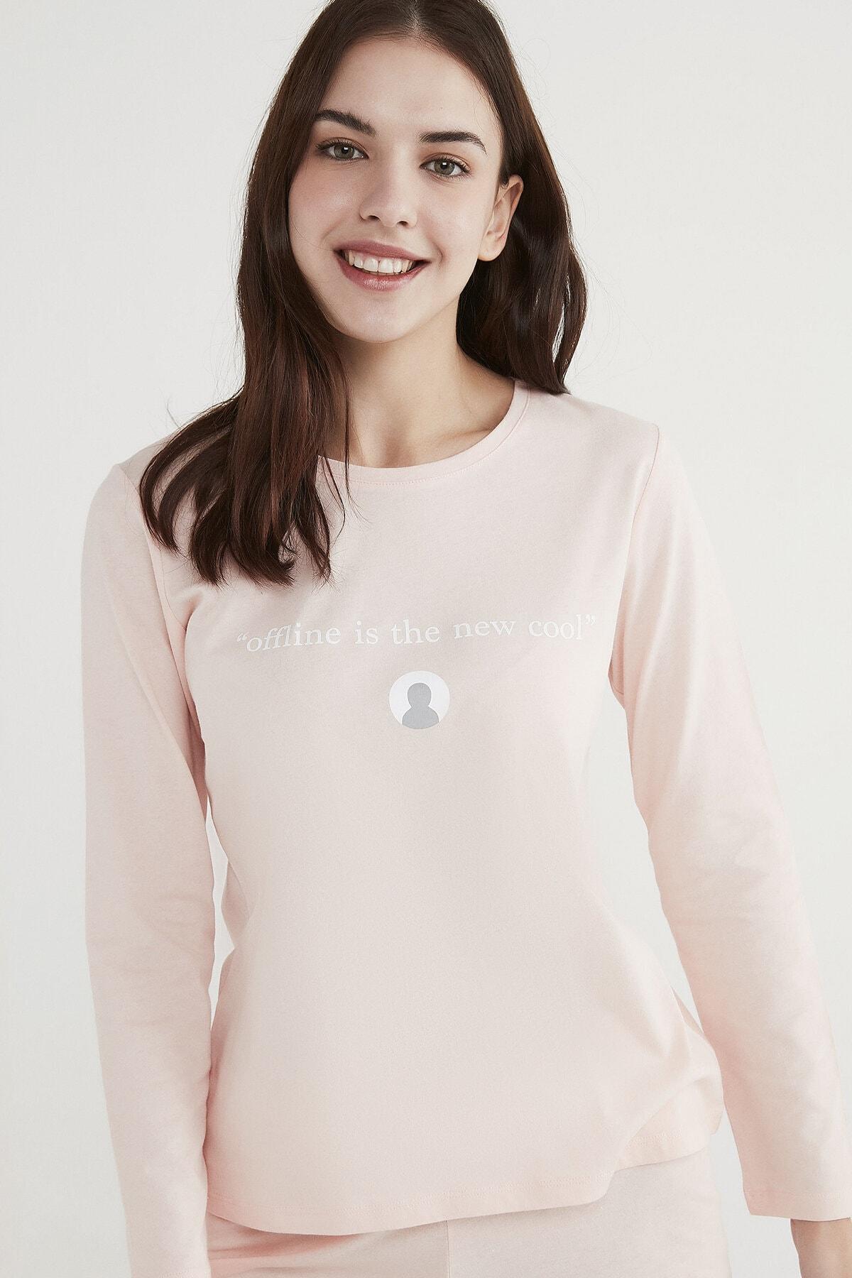 Penti Kadın Pembe Base Offline Pijama Takımı 2