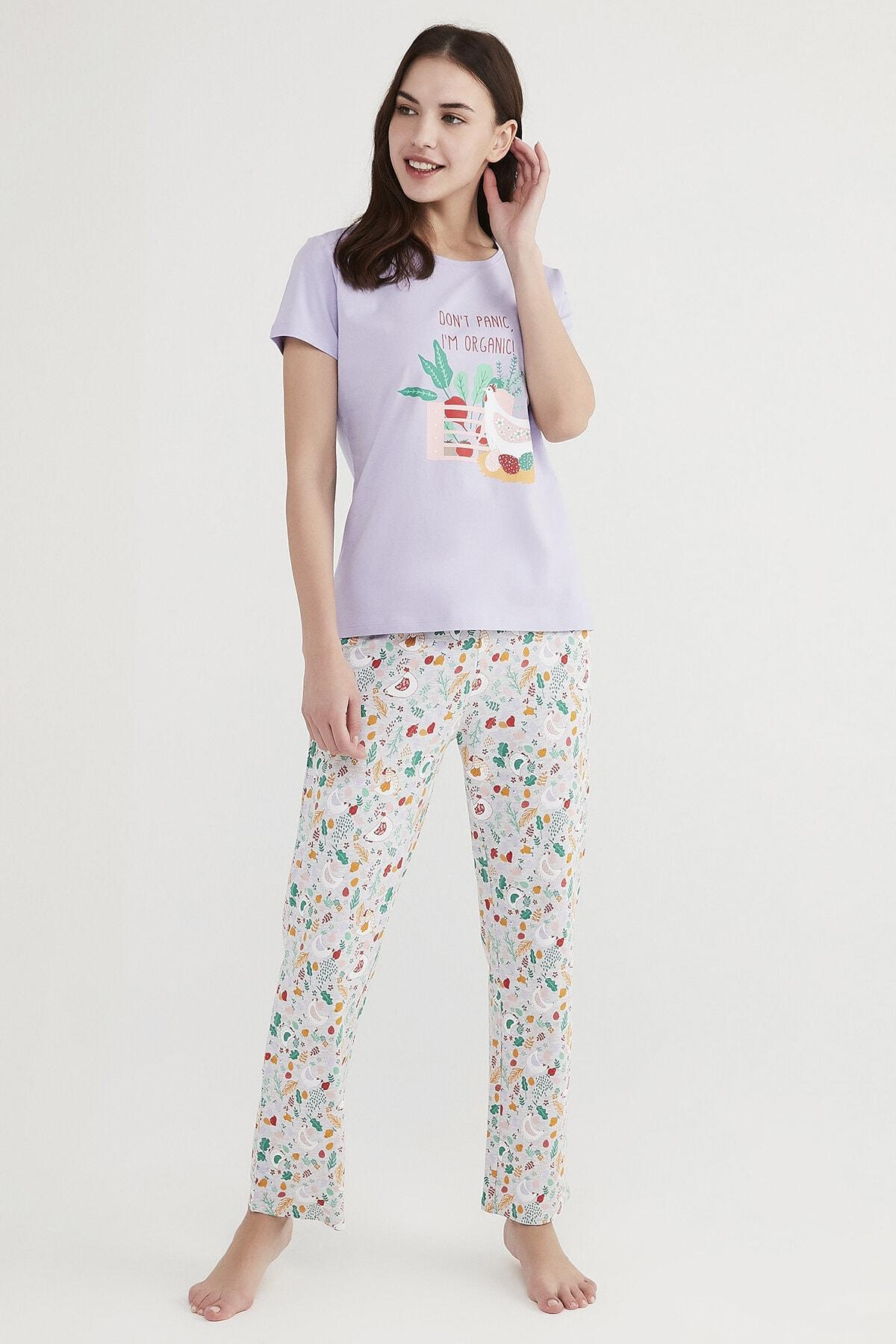 Penti Çok Renkli Don'T Panic Pijama Takımı 0