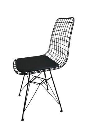 CAN CONCEPT Mermer Görünümlü Masa Sandalye Takımı 4 Adet Tel Sandalye Masa Takımı 2