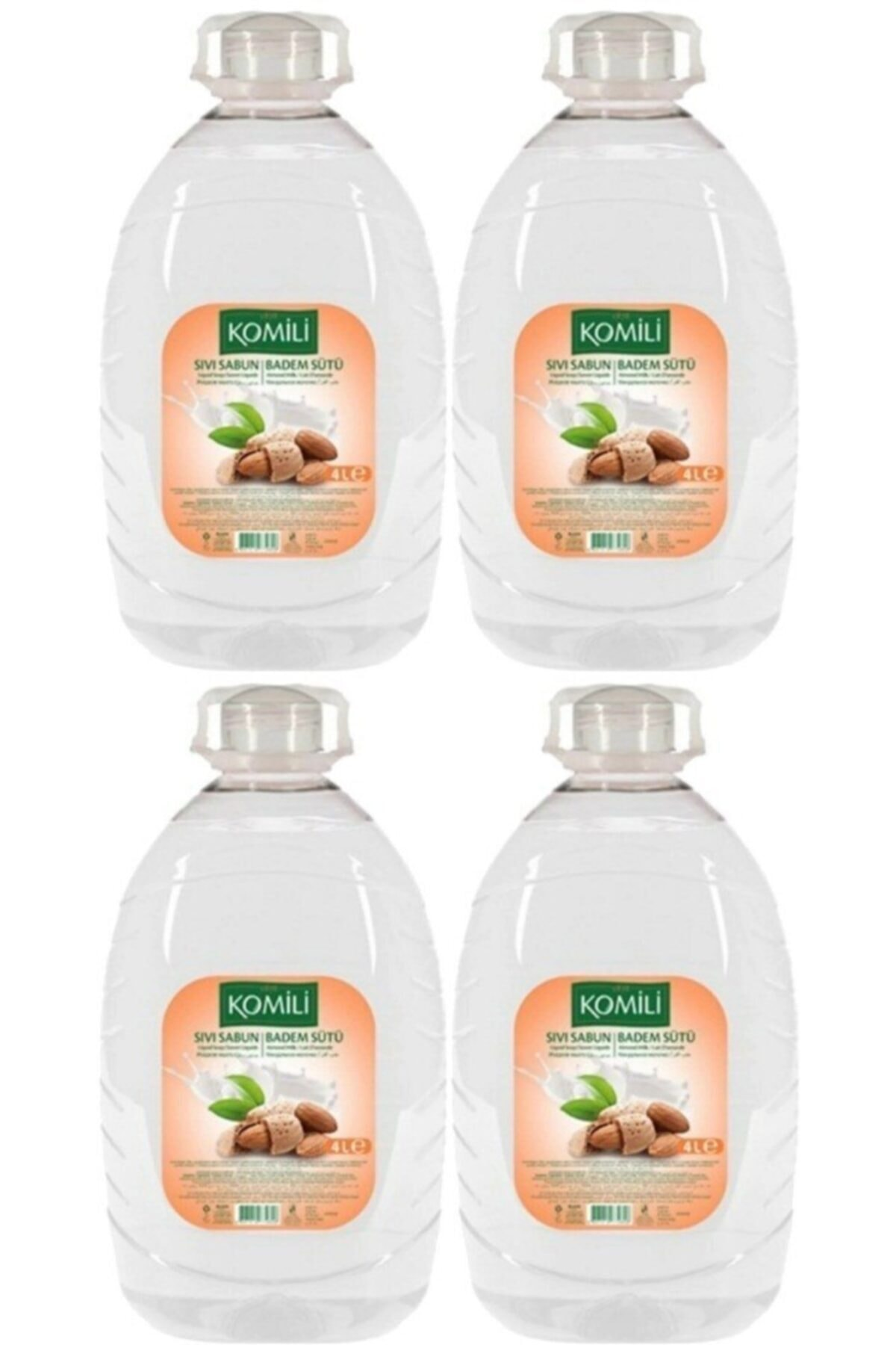 Komili Sıvı El Sabun Badem Sütü 4 Adet X 4 Lt