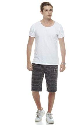 Tena Moda Erkek Antrasit Kamuflaj Şort 4