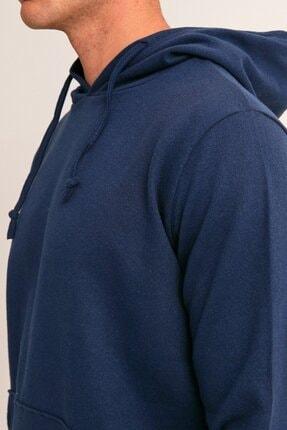Fullamoda Erkek Lacivert Kapüşonlu Sweatshirt 4
