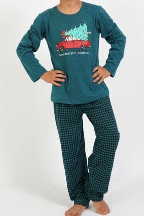 تصویر از Erkek Çocuk P.suprem Uzun Kol 7-14 Yaş Beden Desenli Desen Gümüş Pijama Takım