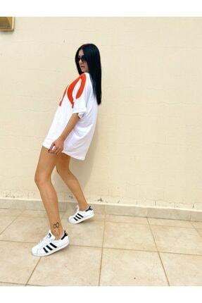 easechic Kadın Oversize Baskılı Tshirt 3