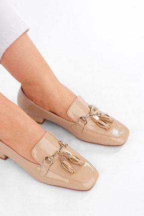 Marjin Kadın Bej Rugan Loafer Ayakkabı Desar 3