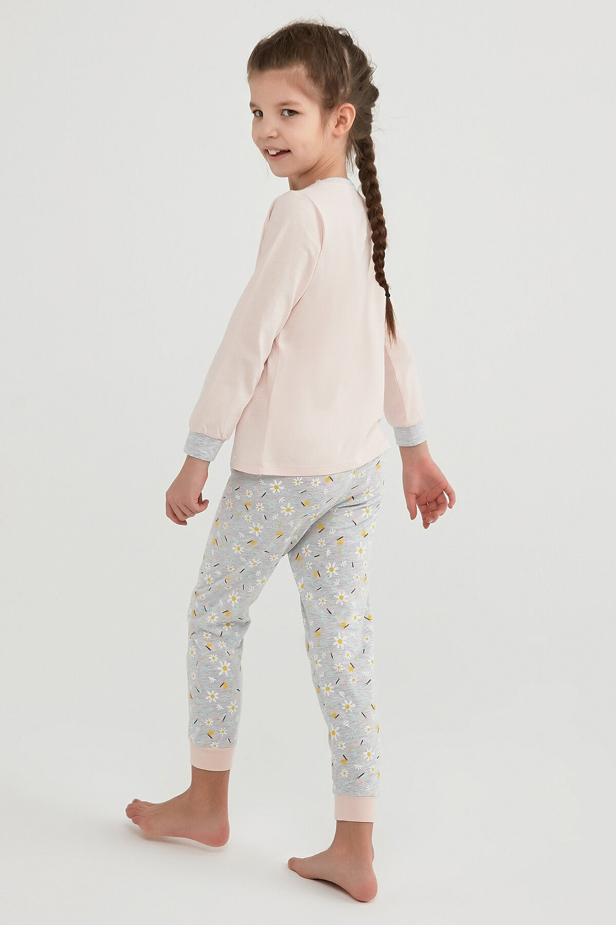 Penti Kız Çocuk Çok Renkli Campıng Joy Ls 2li Pijama Takımı 3