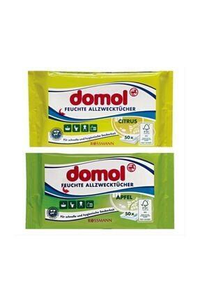 Domol 2 X Islak Temizleme Bezi Narenciye Limon Ve Elma Kokulu Genel Temizlik Bezi 0