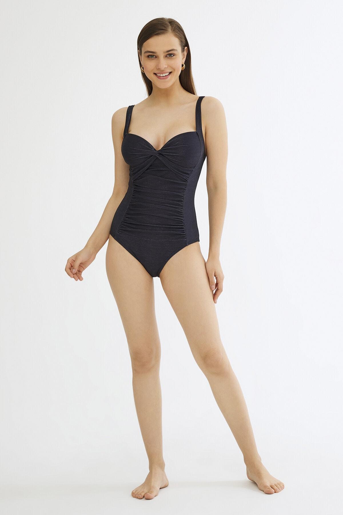 Penti Kadın Lacivert Suzy Shirred Mayo 4