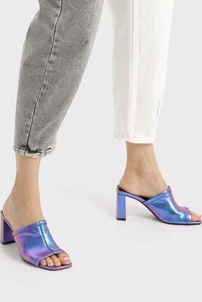 Bershka Yanardöner Metalik Topuklu Sandalet 1