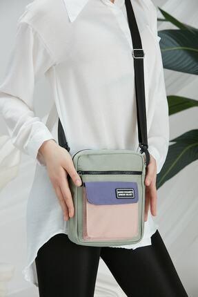 CuCu Bag's Unisex Yeşil Üç Gözlü Cross Bag Çanta Cc2113-1 2