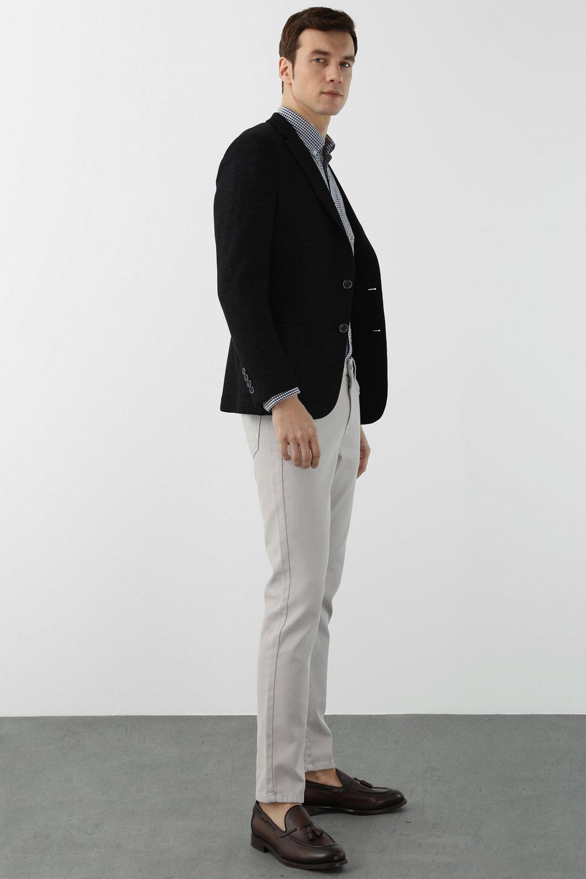 Erkek Slim Fit Taş Normal Bel Casual Pantolon 1078527