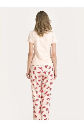 Nbb Kadın Somon Karpuzlu Pijama Takımı 67149 3