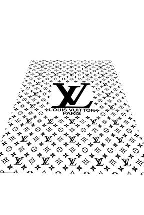 EVİMOD Parıs Siyah Beyaz Yıkanabilir Kaymaz Taban Dekoratif Halı 0402 1