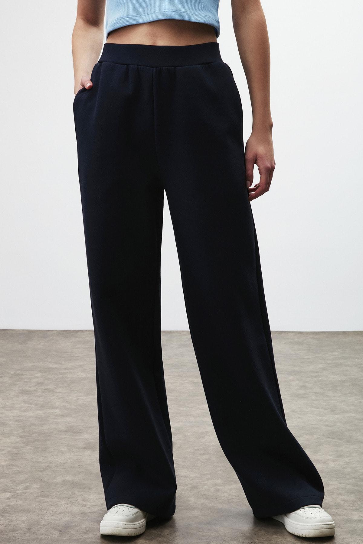 LEILA Kadın Siyah Bol Kesim Pantolon