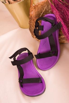 Soho Exclusive Mor-Siyah Kadın Sandalet 16196 2