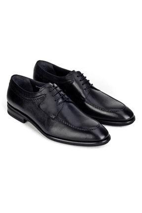 Cabani Işleme Detaylı Light Taban Bağcıklı - Erkek Ayakkabı Siyah Analin Deri 4