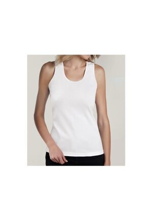 Orbis Kadın Beyaz Geniş Askı Saten Biye Streç Atlet 6'lı 20003 a6 0