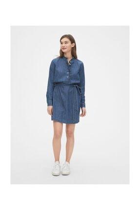 GAP Fırfır Detaylı Gömlek Elbise 2