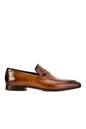 Cabani Kemer Detaylı Klasik Erkek Ayakkabı Taba Sanetta Deri 1