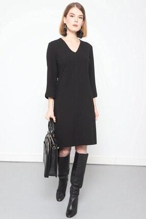 Journey Elbise- V Yaka Turvakar Kol, Kol Yırtmaç Detaylı 0