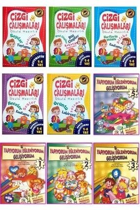 Ya-Pa Yayınları 4 - 5 - 6 Yaş Çizgi Çalışması Ve Etkinlik Seti 10 Kitap 0