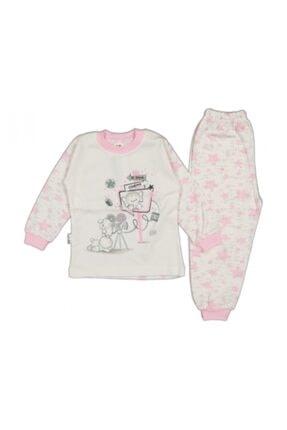 El Bebek Kız Çocuk Yıldızlı Fil Baskılı Pijama Takımı 0