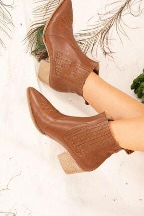 Fox Shoes Taba Kadın Bot J643233709 3
