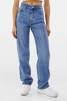 Bershka Straight Fit Yüksek Bel Jean 1