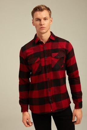Tarz Cool Erkek Kırmızı Ekoseli Oduncu Gömlek odg001r01 2