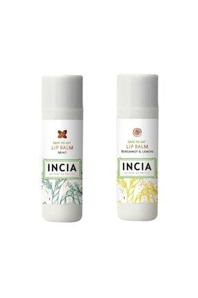 INCIA Lip Balm Mint 6 gr 1 Adet - Bergamot Lemon 1 Adet 1 Alana 1 Bedava 0