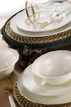 Kütahya Porselen Bone İlay 24 Parça Yemek Seti 1