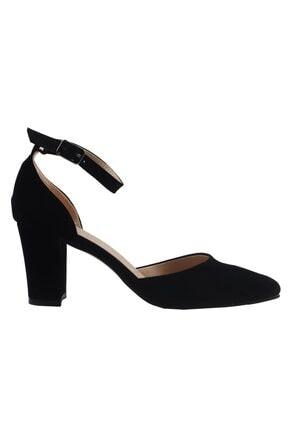 Fiore Siyah Süet Bayan Topuklu Ayakkabı 0