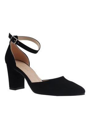 Fiore Siyah Süet Bayan Topuklu Ayakkabı 2