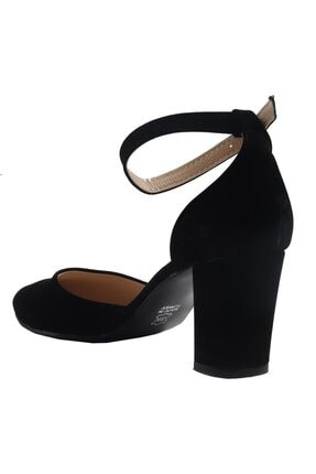 Fiore Siyah Süet Bayan Topuklu Ayakkabı 3