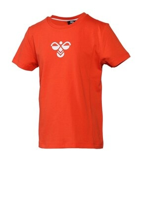 HUMMEL Unisex Çocuk Kırmızı Tişört 911298-1102 1