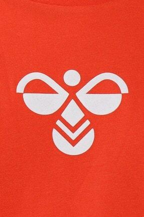 HUMMEL Unisex Çocuk Kırmızı Tişört 911298-1102 3