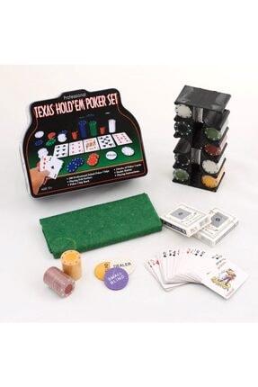 Gezgin tekstil ve aksesuar 200 Chip Ve 2 Adet Iskambil Oyun Setine Sahip Poker Oyunu 0