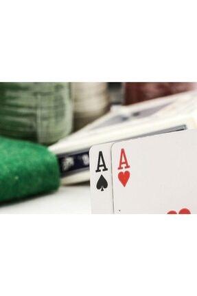 Gezgin tekstil ve aksesuar 200 Chip Ve 2 Adet Iskambil Oyun Setine Sahip Poker Oyunu 3