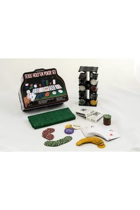 Gezgin tekstil ve aksesuar 200 Chip Ve 2 Adet Iskambil Oyun Setine Sahip Poker Oyunu 4