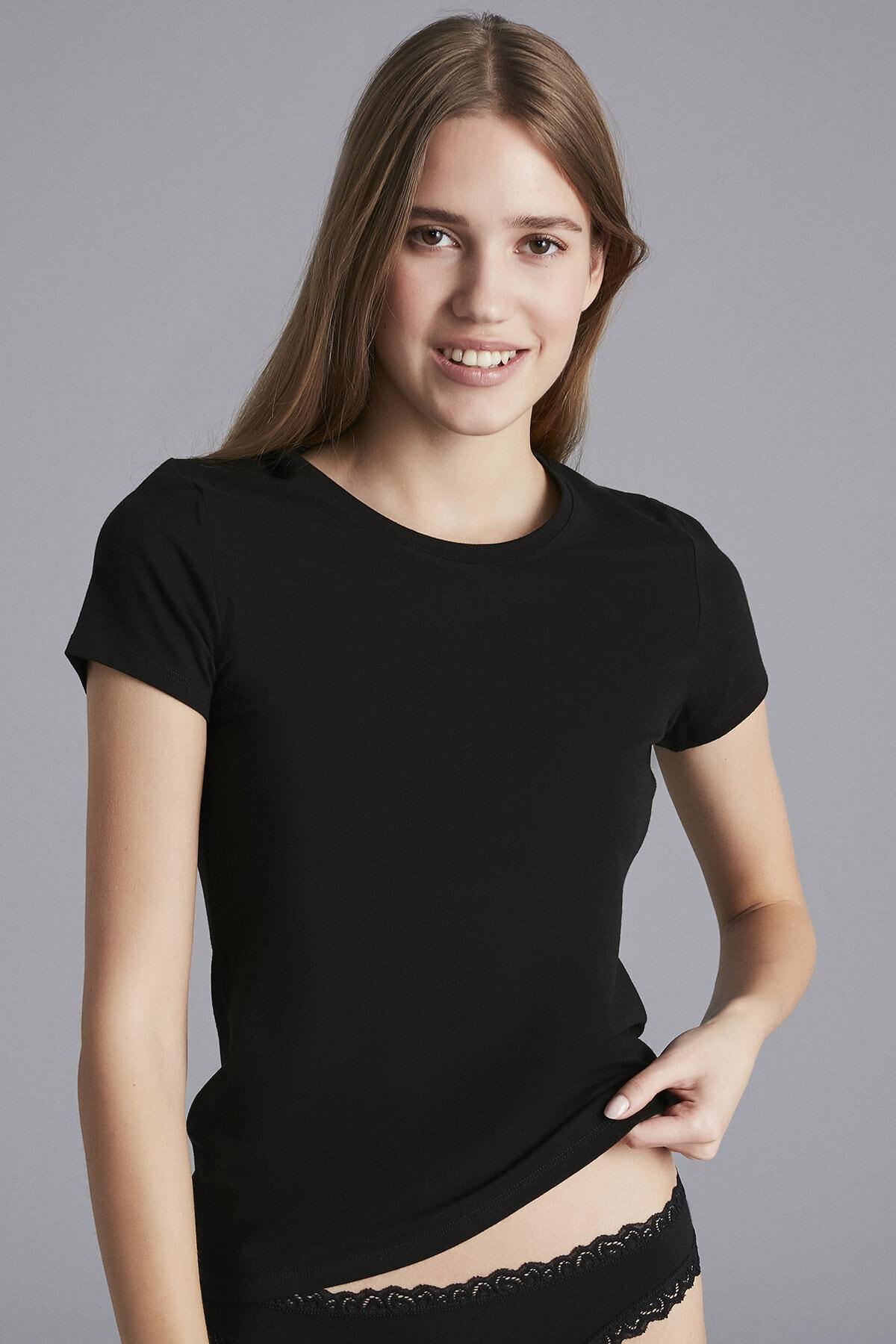 Penti Siyah Hot Tech Basic Thermal Tshirt 1