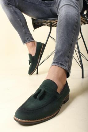 Oksit Erkek Yeşil Püskülü Loafer Ayakkabı 1