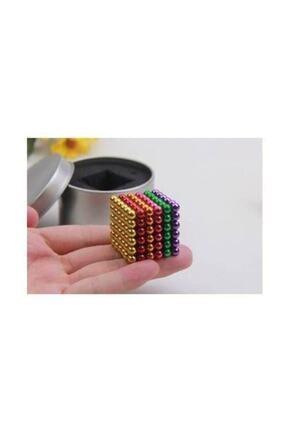 CAN OYUNCAK 6 Renkli 5mm 216 Adet Neocube Neodyum Mıknatıs Küp Sihirli Manyetik Toplar 3