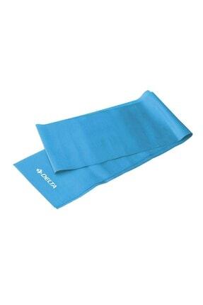 Delta Turkuaz Egzersiz Pilates Bandı Tam Sert Direnç Lastiği 150x15 cm 0