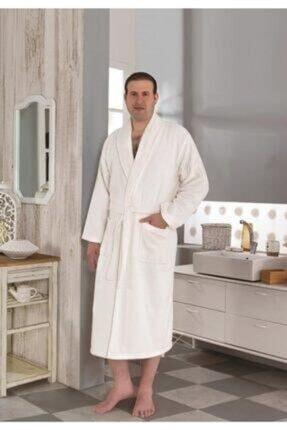 tekstilstok Erkek Beyaz Bornoz 1