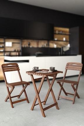 Meya Dekor Balkon - Bahçe - Mutfak 3'lü Bistro Set 2 Sandalye 1 Masa 1