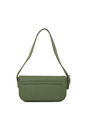 Dora&Dora Kadın Yeşil Kapaklı Kalıp Baget Omuz Ve Çapraz Çanta 2